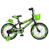 "Bicicleta pentru copii 16"" R16WTA Rich Baby, Negru/Verde"