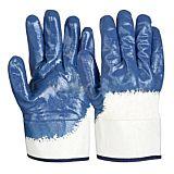 Manusi de protectie tricotate, cauciuc nitrilic, marimea 10, Albastru/Aln