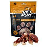 Recompense pentru caini adulti Pet's Dessert, cu urechi de iepure si pui, 80 g
