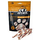 Recompense pentru caini adulti Pet's Dessert, cu carne de pui si cod, 80 g