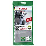 SONAX Servetele umede auto pentru suprafetele din plastic, efect mat, 10 buc