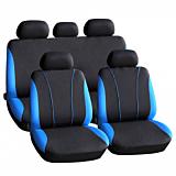 Set 3 huse auto scaune Carguarg, Negru/Albastru