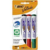 Set 4 markere de tabla alba BIC Velleda 1701 ECOlutions, varf mediu rotund, Multicolor