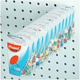 Pioneze color Maped 100 buc blister