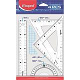 Set geometrie Maped, 4 piese, Transparent