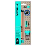Creion grafit Stabilo Exam Grade HB ascutitoare si radiera