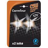 Bec auto C5W 12V blister 2 bucati, Carrefour