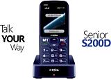 Telefon mobil seniori E-boda S200D, Dual SIM, Negru