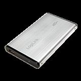 "Rack extern 2.5"", USB 2.0, Silver, LogiLink UA0041A"