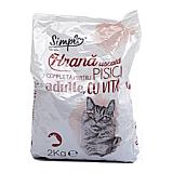 Hrana uscata completa pentru pisici adulte, cu vita, Simpl, 2 kg