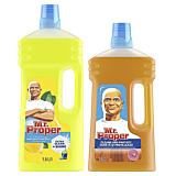 Pachet Promo: Detergent universal Mr. Proper Lemon 1.5L + Detergent universal Mr. Proper pentru suprafete din lemn 1L