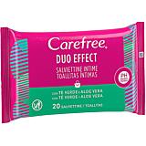 Servetele intime, Carefree Duo Effect Aloe, 20 bucati