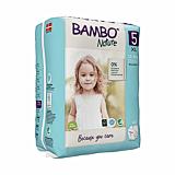 Scutece ecologice pentru bebelusi, Bambo Nature, marimea 5, 12-18 kg, 22 bucati