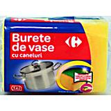 Burete vase galben cu caneluri Carrefour, 1buc