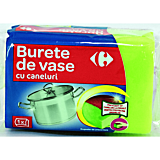 Burete vase verde cu caneluri Carrefour, 1buc