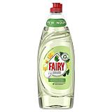 Detergent de vase Fairy Pure and Naturals Bergamota si Ghimbir, 650 ml