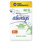 Absorbante Always Cotton Protection Ultra, 22 bucati