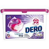Detergent automat capsule, Dero Trio Caps Lavanda 50 spalari, 50 bucati x19ml