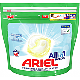 Detergent automat capsule, Ariell All in One PODS Sensitive, 40 spalari, 40 bucati