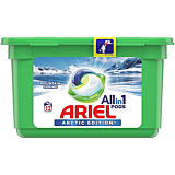Detergent automat capsule, Ariel All in One PODS Mountain Spring Arctic Edition, 12 spalari, 12 bucati