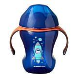 Cana Tommee Tippee Easy Drink Ecomm, 230 ml, 7 luni +, Racheta albastra, 1 buc