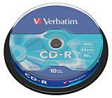 CD-R Verbatim, 700 MB, 52x, 10 bucati/bulk in cake box