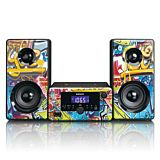 Microsistem stereo Lenco MC-020, Bluetooth, FM, USB si AUX, Multicolor