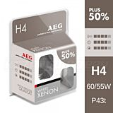 Set 2 x white xenon h4 AEG