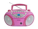 Microsistem audio Boombox BB15PK, 4 W, CD, Casetofon, USB, AUX, Roz