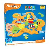 Puzzle creativ Harta Europei Imagimake, 31 piese, Multicolor