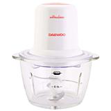Tocator electric Daewoo DCH50U, 400 W, 1 Litru, 1 viteza, 4 lame inox, recipient din sticla, Alb