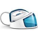 Statie de calcat Philips FastCare GC6722/20, 2400 W, 300g/min, 1.5 Litri, presiune  max 5.2 bar, talpa ceramica, Alb/albastru