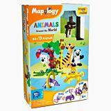 Puzzle 3D creativ Worldwide Animals Imagimake, Multicolor