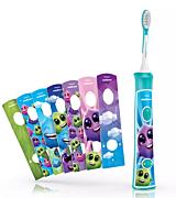 Periuta de dinti sonica electrica Philips HX6322/04 Sonicare for Kids, 62000 oscilatii, Bluetooth, Albastru