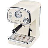 Espressor cafea retro Mandine MEC100C-20, 15 bari, 1.25 Litri, Bej
