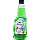 Rezerva solutie pentru curatat geamuri, Carrefour Essential, cu alcool si mar, 500ml