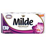 Hartie igienica parfumata, Milde Relax Purple, 3 straturi, 8 role
