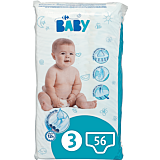 Scutece Carrefour Baby Marimea 3, 3-9kg,  56 buc