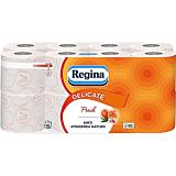 Hartie igienica parfumata, Regina Delicate Peach, 3 straturi, 16 role