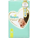Scutece Pampers Premium Care Marimea 1, Nou Nascut, 2-5 kg, 52 buc