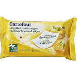 Servetele umede cu parfum de citrice, Carrefour, 2x40 bucati