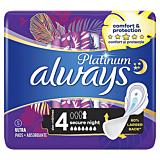 Absorbante Always Platinum Secure Night, 5 bucati
