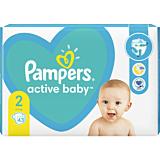 Scutece Pampers Active Baby Marimea 2, Nou Nascut, 4-8 kg, 43 buc