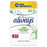 Absorbante Always Cotton Protection Long, 18 bucati