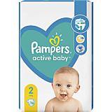 Scutece Pampers Active Baby Marimea 2, Nou Nascut, 4-8 kg, 76 bucati