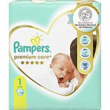 Scutece Pampers Premium Care Marimea 1, Nou Nascut, 2-5 kg, 78 bucati