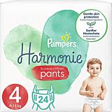 Scutece-chilotel Pampers Harmonie Pants, Marimea 4, 9-15 kg, 24 bucati