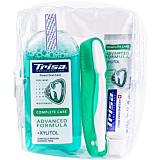 Pachet calatorie Trisa Travel apa de gura+periuta+pasta de dinti