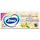 Batiste nazale Zewa Deluxe Spirit of tea, 3 straturi, 10x10 bucati