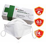 Masca de protectie respiratorie impotriva particulelor, fara valva Dr.Albert® Protective Mask Slim, 10 bucati